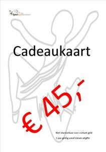 Cadeaukaart SpeelStylDeventer € 45,- euro