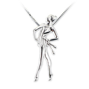 925 Silver CLUBS pendant necklace