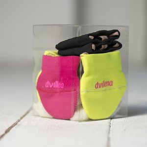 Dvillena Socks maat XS t/m L, Classic, Fuchsia, Yellow en Black in set.